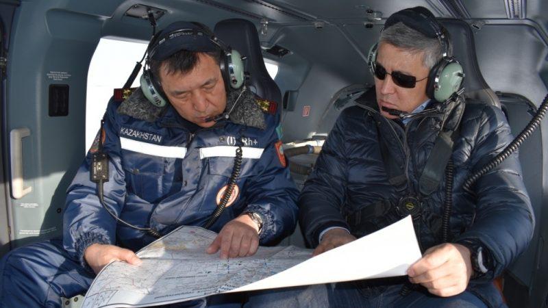 Қарағанды облысында тасқын қаупі жоғары аумақтарды әуеден бақылау жалғасуда