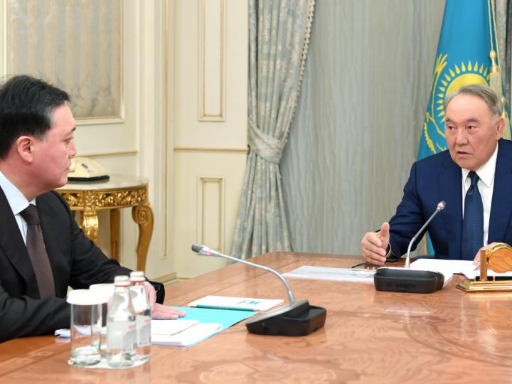 Нұрсұлтан Назарбаев Премьер-Министр Асқар Маминді қабылдады