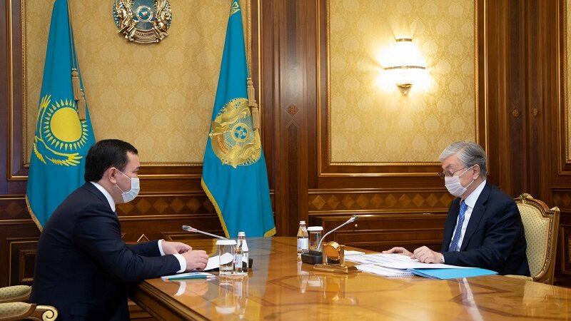 Президент Қарағанды облысының әкімі Жеңіс Қасымбекті қабылдады
